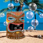TIKI HEAD BUBBLE MACHINE