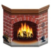 Christmas Fireplace Scene Setter Kit