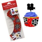 Hollywood Cupcake Wrappers & Toppers