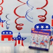 Republican Swirl Decorations-12 Pack