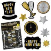 New Year's Eve Glitter Cutouts