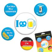 Oktoberfest Party Buttons - 4 Per Unit