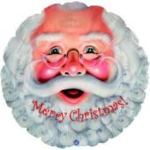 Super Santa Metallic Balloon - 18 Inch