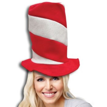 RED & WHITE   STRIPED HATS