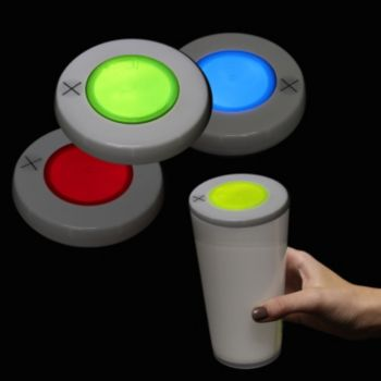 Glowing Stadium Cup Lids in 5 Colors and Glow Drinkware