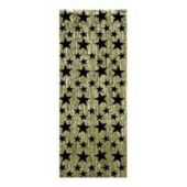 Gold And Black Star Metallic Fringed Door Curtain