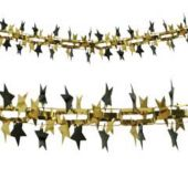 Gold And Black Star Metallic Garland Decoration