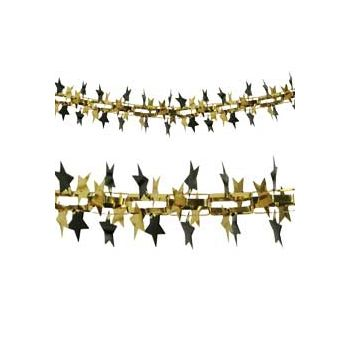 Gold and Black Star Garland