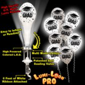 Congrats Grad White Lumi-Loons Balloon Lights