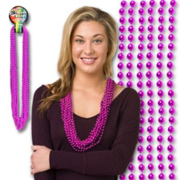 PINK BEADS   7mm 33""