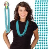 Teal Bead Necklaces 33 Inch Long 7mm Beads