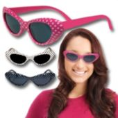 Polka Dot  Funky Glasses - 12 Pack