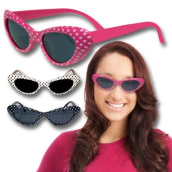 Polka Dot Funky Glasses in Assorted Colors