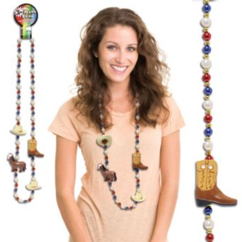 "WESTERN    42"" BEAD NECKLACES"