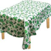 Shamrocks Vinyl Table Cover