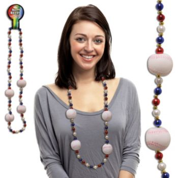 "BASEBALL   42"" BEAD NECKLACES"