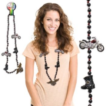 "MOTORCYCLE BEADS   42"" NECKLACES"