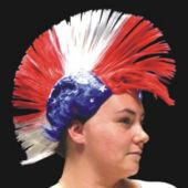 Patriotic Mohawk Wig