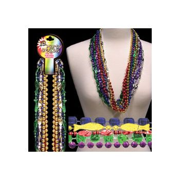 "ASSORTED COLOR   33"" METALLIC BEADS"