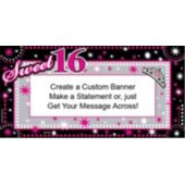 Sweet 16 Sparkle Custom Banner