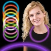 "Purple Glow Necklaces-22""-50 Per Tube"