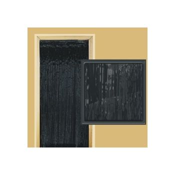 Black Metallic  Fringed Door Curtain