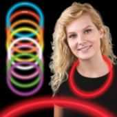 "22"" Red Supreme Glow Necklaces  6mm Thick  50 Per Tube"