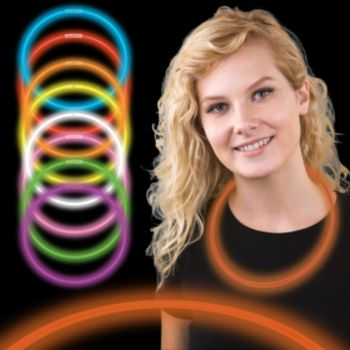 22 Inch Orange Supreme Glow Necklaces
