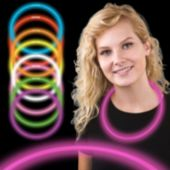 "22"" Pink Supreme Glow Necklaces 6mm Thick 50 Per Tube"
