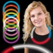 "Red, White and Blue Glow Necklaces-22""-50 Per Tube"