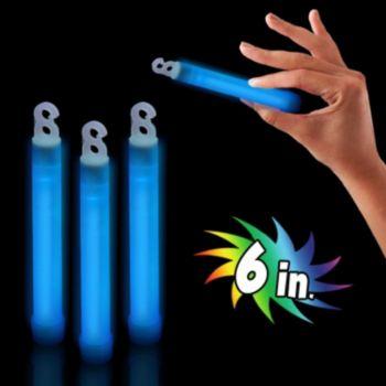 Premium Blue Glow Sticks - 6 Inch, 25 Pack