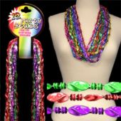 Twist Bead Necklaces - 12 Pack