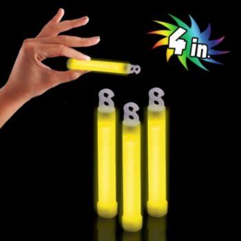 Premium Yellow Glow Sticks - 4 Inch, 50 Pack
