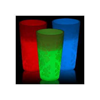 12 oz Glowing Luau Glasses Available in 5 Colors