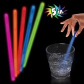 "Blue 5"" Glow Swizzle Sticks -  50 Pack"