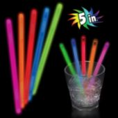 Red Glow Swizzle Sticks - 5 Inch, 50 Pack