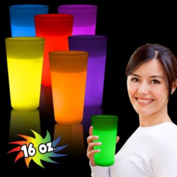 16 oz Glow Glasses Available in 5 colors