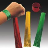 Assorted Metallic Slap Bracelets - 12 Pack