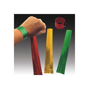 "METALLIC ASSORTED   9"" SLAP BRACELETS"