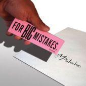 """Jumbo Mistake 6 1/2"""" Erasers - 12 Pack"""