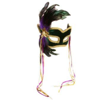 Mardi Gras Feather Couples Mask