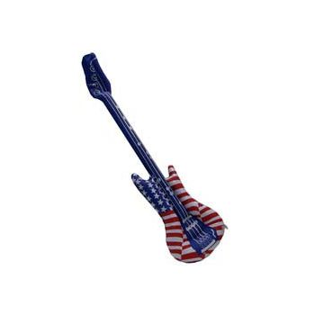 Patriotic Inflatable Guitars - 38 Inch, 12 Pack