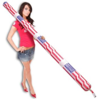 Inflatable Patriotic Flying Air Power Rocket - 8 Foot, 12 Pack