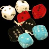 Plush Fuzzy Dice-12 Pack