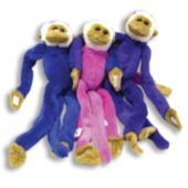 Assorted Color Plush Monkeys