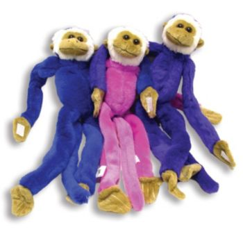 "14"" PLUSH MONKEYS (Assorted Colors)"