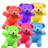 Assorted Color Plush Mini Bears