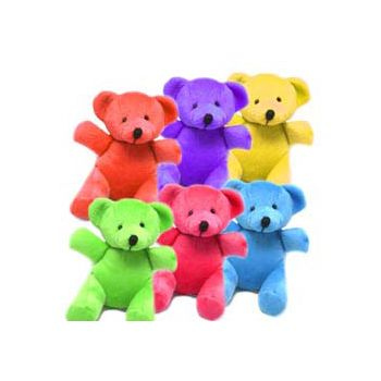 "5"" PLUSH MINI BEARS (Assorted Colors)"