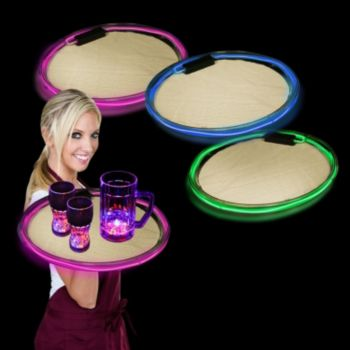 Pink LED Serving Tray - 14 Inch