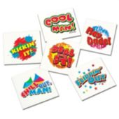 "1 1/2"" Cool Kid Tattoos - 144 Pack"